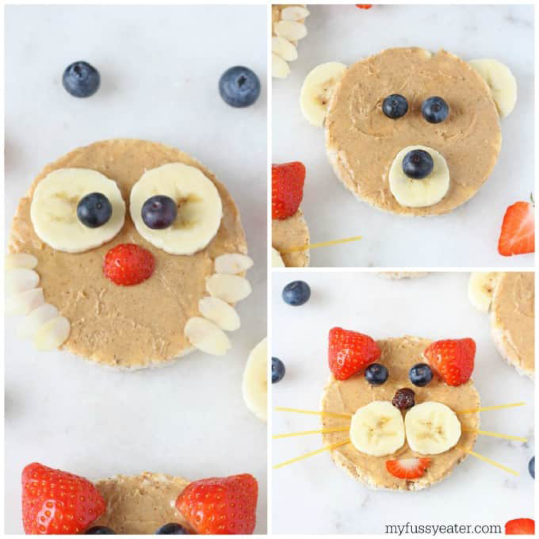 Make animals from biscuits. Credit www.myfussyeater.com