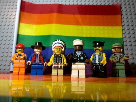 Bendigo PRIDE Lego display