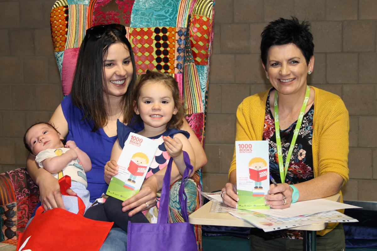Jessie and her family were the first to register for 1000 Books Before School through Goldfields Libraries