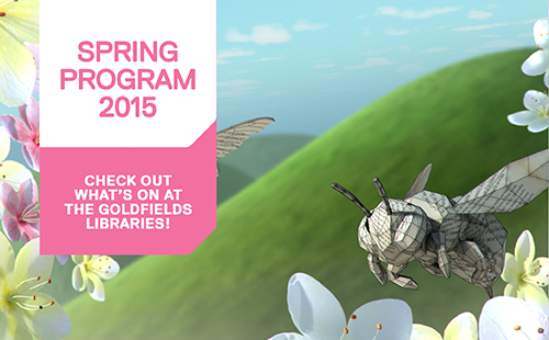 Download the Goldfields Libraries Spring Program